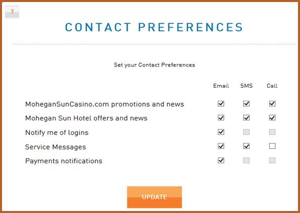 Manage Your Casino Account Mohegan Sun Online Casino